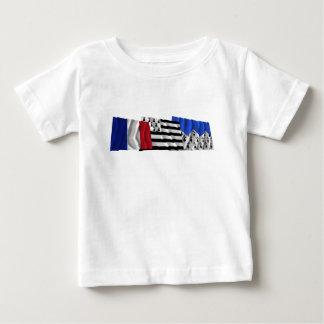 Banderas de Côtes-d'Armor, de Bretaña y de Francia Tee Shirt