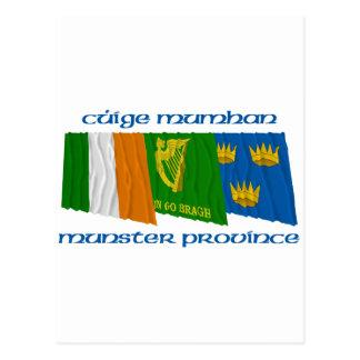 Banderas de Cúige Mumhan (provincia de Munster) Postal