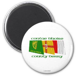 Banderas de Derry del condado Imanes
