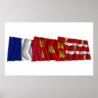 Banderas de Deux-Sèvres, del Poitou-Charentes y de Póster