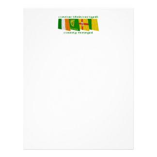 Banderas de Donegal del condado Membrete A Diseño
