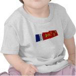 Banderas de Dordoña, de Aquitania y de Francia Camiseta