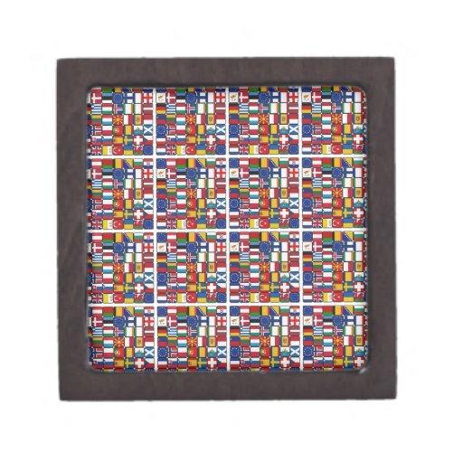 Banderas de Europa Caja De Recuerdo De Calidad