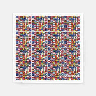 Banderas de Europa Servilletas Desechables