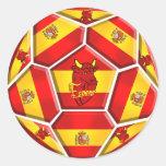 Banderas de Furia Roja Toro del La del balón de fú Pegatinas Redondas