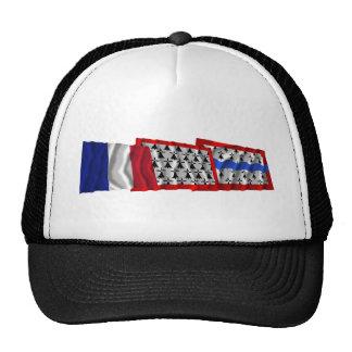 Banderas de Haute-Vienne, de Lemosín y de Francia Gorras De Camionero