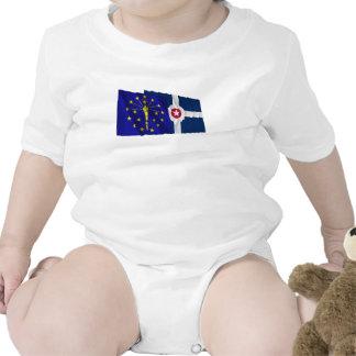 Banderas de Indiana y de Indianapolis Trajes De Bebé