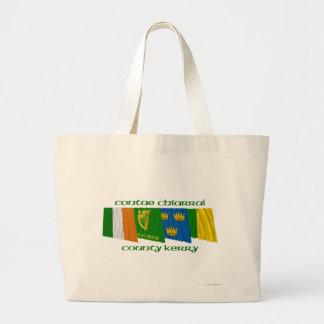 Banderas de Kerry del condado Bolsa Tela Grande
