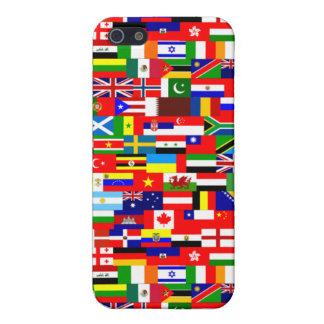Banderas de la cubierta del iPhone del mundo iPhone 5 Carcasas