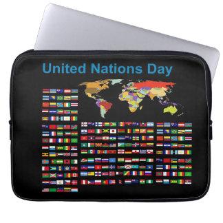 Banderas de la O.N.U para la manga del ordenador Manga Computadora