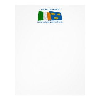 Banderas de la provincia de Irlanda y de Munster Membrete