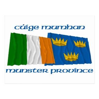 Banderas de la provincia de Irlanda y de Munster Postal