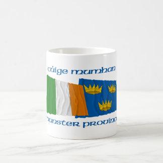 Banderas de la provincia de Irlanda y de Munster Tazas De Café