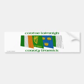 Banderas de la quintilla del condado etiqueta de parachoque