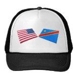 Banderas de la república Democratic de los E.E.U.U Gorra