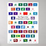 Banderas de las prefecturas de Japón Impresiones