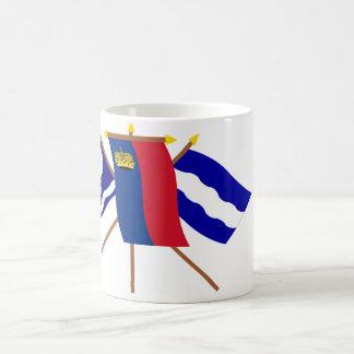 Banderas de Liechtenstein y de Eschen Taza