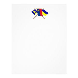 Banderas de Liechtenstein y de Triesenberg Membrete A Diseño
