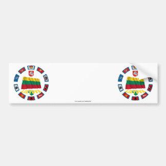 Banderas de Lituania Etiqueta De Parachoque