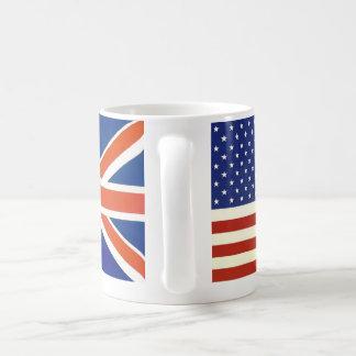 Banderas de los E.E.U.U. Británicos Taza Básica Blanca