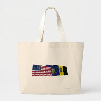 Banderas de los E.E.U.U., de Pennsylvania y de Pit Bolsas