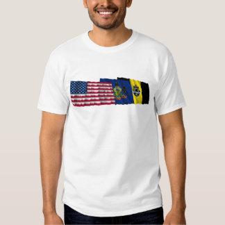 Banderas de los E.E.U.U., de Pennsylvania y de Pit Playera