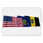 Banderas de los E.E.U.U., de Pennsylvania y de Pit Felicitaciones