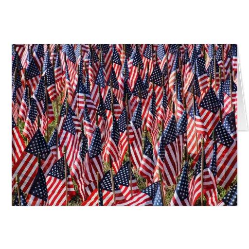 Banderas de los E.E.U.U. Tarjeta De Felicitación