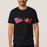 Banderas de los E.E.U.U. y de Antigua y de Barbuda Camisas