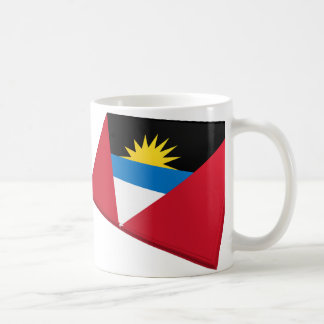 Banderas de los E E U U y de Antigua y de Barbuda Taza De Café