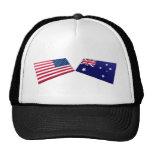 Banderas de los E.E.U.U. y de Australia Gorras