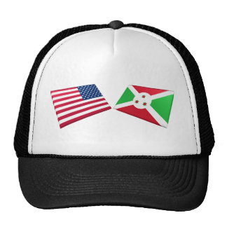 Banderas de los E.E.U.U. y de Burundi Gorra
