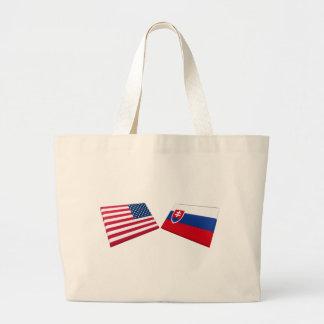 Banderas de los E.E.U.U. y de Eslovaquia Bolsa De Mano