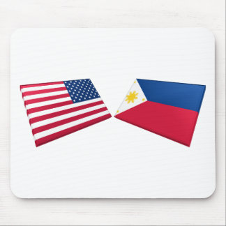 Banderas de los E.E.U.U. y de Filipinas Tapete De Ratones