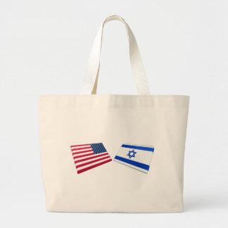 Banderas de los E.E.U.U. y de Israel Bolsa De Mano