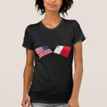 Banderas de los E.E.U.U. y de Malta Camiseta