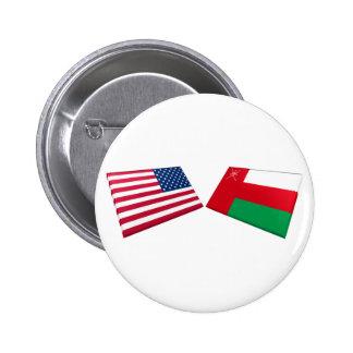 Banderas de los E.E.U.U. y de Omán Pin