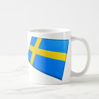 Banderas de los E E U U y de Suecia Taza De Café