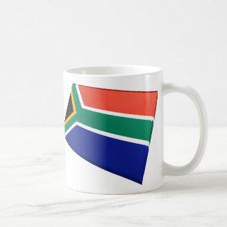 Banderas de los E E U U y de Suráfrica Taza