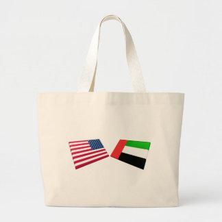 Banderas de los E.E.U.U. y de United Arab Emirates Bolsa De Mano