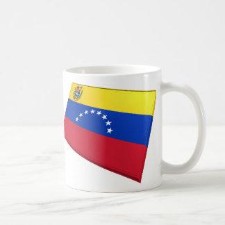 Banderas de los E E U U y de Venezuela Tazas