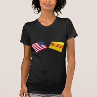 Banderas de los E.E.U.U. y de Vietnam (Vietnam del Camiseta