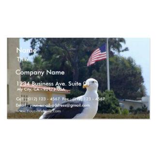Banderas de los pájaros de las gaviotas plantillas de tarjetas personales