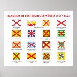 Banderas de los Tercios Españoles Póster