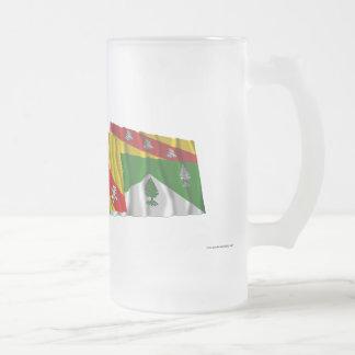 Banderas de los Vosgos, de Lorena y de Francia Taza Cristal Mate