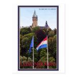 Banderas de Luxemburgo Tarjeta Postal