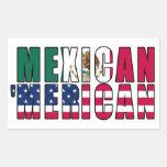 Banderas de Merican del mexicano '- Rectangular Pegatinas