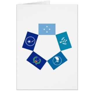Banderas de Micronesia y de sus estados Tarjeta De Felicitación