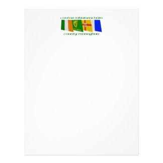 Banderas de Monaghan del condado Membrete A Diseño
