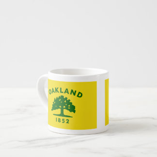 Banderas de Oakland, California Taza Espresso
